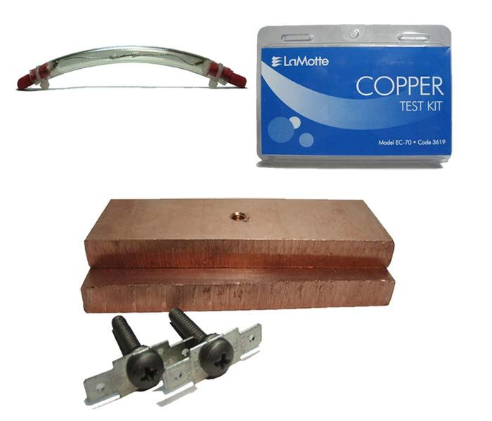 Copper Electrodes with Copper Test Kit or Tube Light